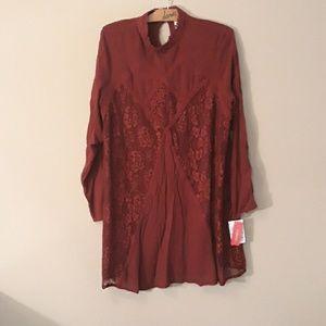 Xhiliration NEW Boho Lace Dress XXL Cute